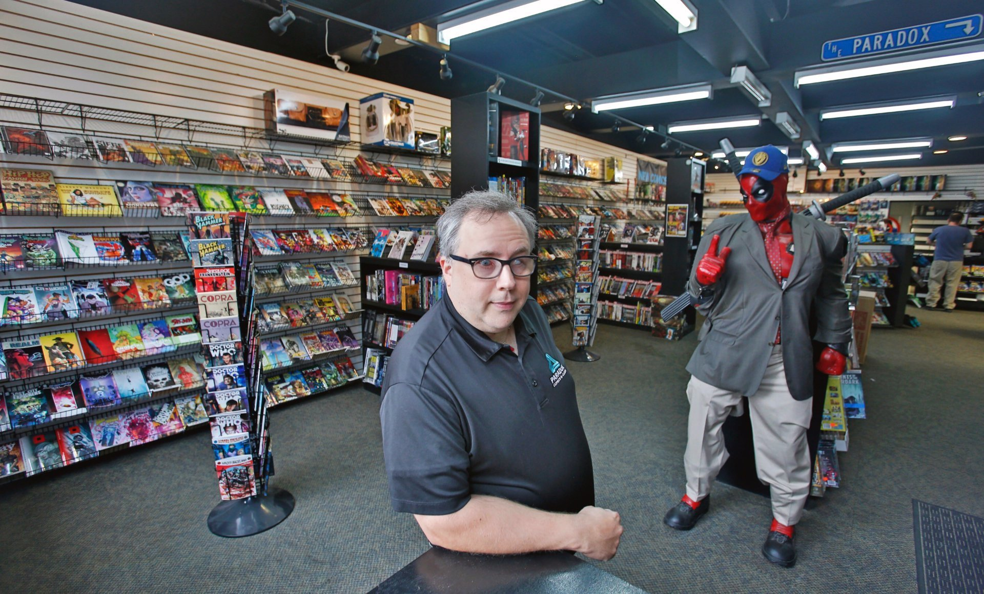 Richard Early owns Paradox Comics-N-Cards, located at 26 Roberts St. N. in downtown Fargo. David Samson / The Forum